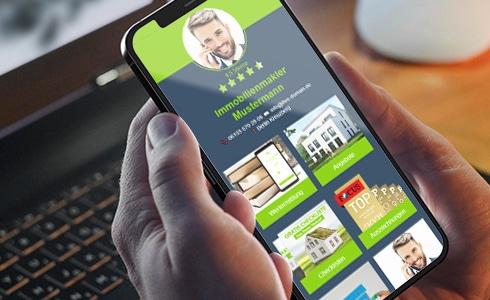 Immobilienmakler Webseite